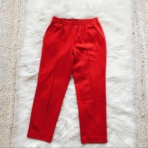 J. Crew Red Wool Tailored Pants